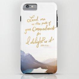 Psalm 119:35 iPhone Case