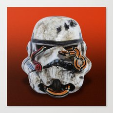 snake and stormtrooper Canvas Print