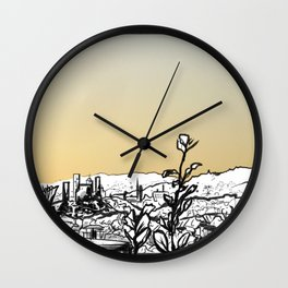 Locals Only - Los Feliz Wall Clock