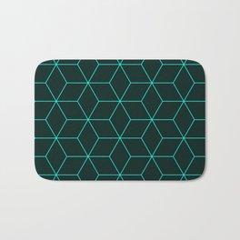 Cube Pattern 01 Green Bath Mat
