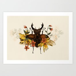 Blooming Beetle Art Print