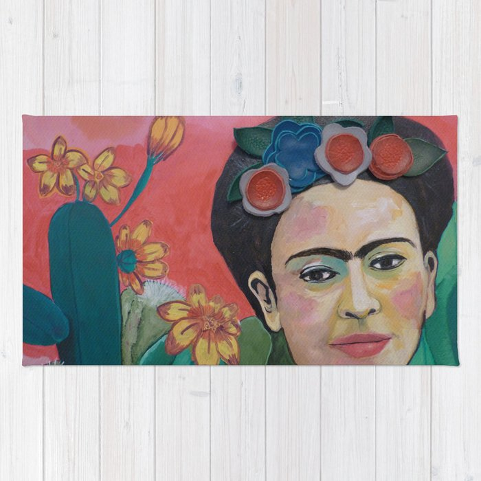 Frida Kahlo Detail Rug