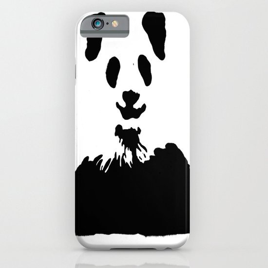 Pandas Blend into White Backgrounds iPhone & iPod Case