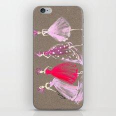 Showroom Girls Gouache Fashion Illustration iPhone & iPod Skin
