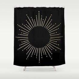 Mod Sunburst Gold 1 Shower Curtain