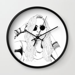 Wild Delilah Super Groupie Wall Clock