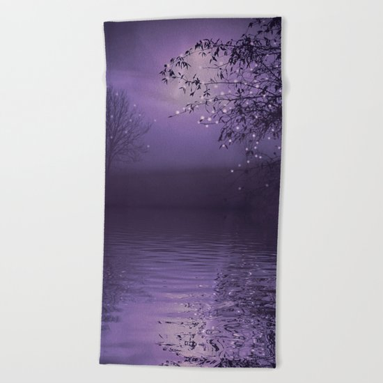SONG OF THE NIGHTBIRD - LAVENDER Beach Towel