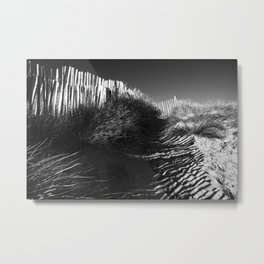 Fencing On The Beach Metal Print