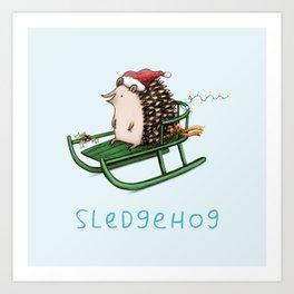Sledgehog Art Print
