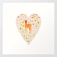 Fawn Valentine Art Print