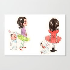 My Sister the Bunny Girl Canvas Print