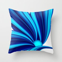 Abstract blue 208 Throw Pillow