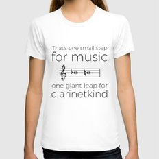 Crossing the break (clarinet) Womens Fitted Tee SMALL White