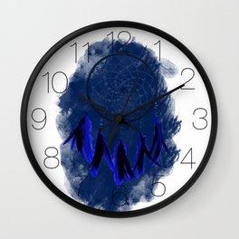 Dreamcatcher Deep Blue Darkness: Blue background Wall Clock