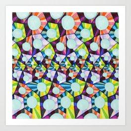 Bubble Prisms Art Print