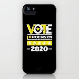 Jo Jorgensen 2020 For President Vote Shirt iPhone Case