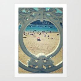 La Concha . Donosti beach Art Print