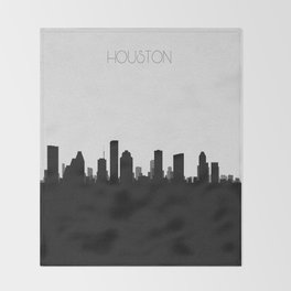 City Skylines: Houston Throw Blanket