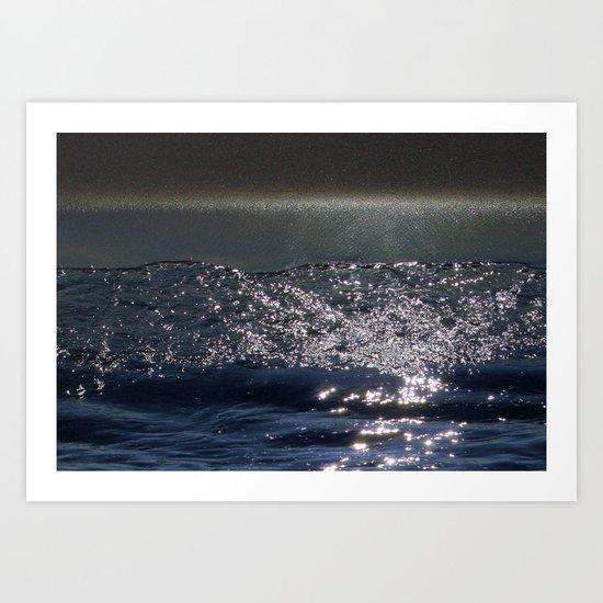 Cosmic Sparkling Ocean Art Print