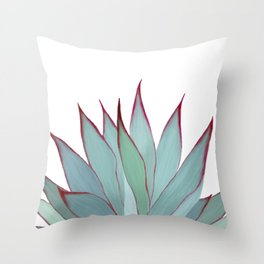 Elegant Agave Fringe Illustration Throw Pillow