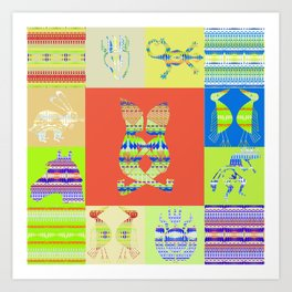 Indian patchworks74 Art Print