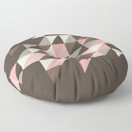 Triangles [strawberry mousse] Floor Pillow