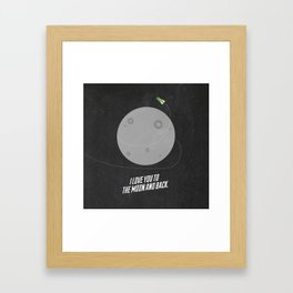 I Love You to the Moon  Framed Art Print