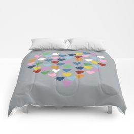 Hearts Heart Multi Grey Comforters