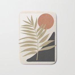Tropical Leaf- Abstract Art 9 Bath Mat