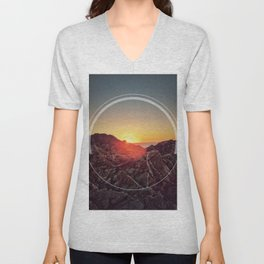 Peel Sunset Unisex V-Neck