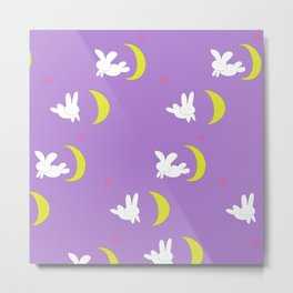 Usagi (Sailor Moon) Bedspread Bunny and Moon  Metal Print