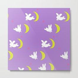 Usagi (Sailor Moon) Bedspread Bunny and Moon  Metal Print