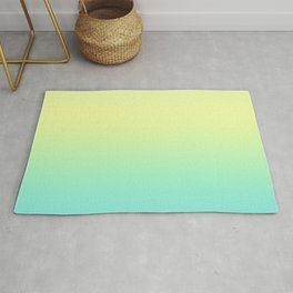 Ombre gradient illustration blue yellow colors Rug