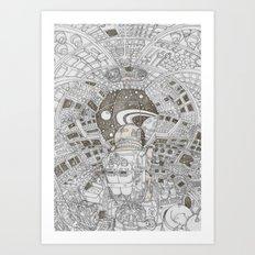 on dreammachine Art Print
