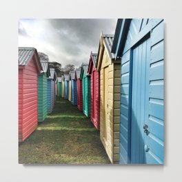 Beach Huts 01A Metal Print