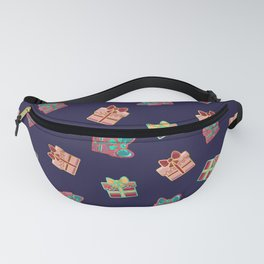 Cute Girly Festive Holiday Christmas Gift Present Boxes Fanny Pack