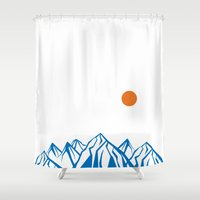 napoleon Shower Curtains featuring Napoleon Mountain by birdandtree