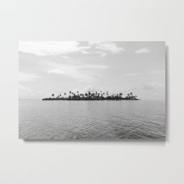 San Blas Islands, Panama, Black & White Metal Print