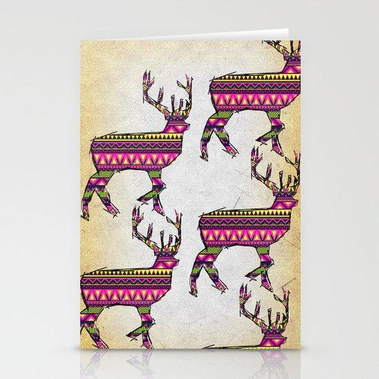Deer Navajos pattern Stationery Cards