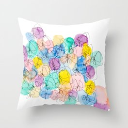 Ribbons Freedom Throw Pillow