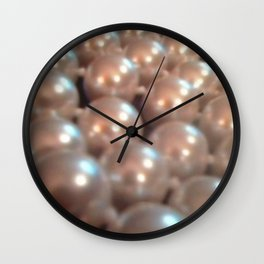 Antique Jewelry Vintage Pearls Wall Clock