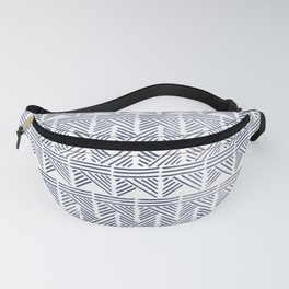 Abstract Aztec print - blue watercolour Fanny Pack