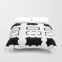 Pattern in black and white Duvet Cover