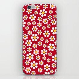 Dizzy Daisies - Red iPhone Skin