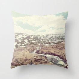 Norwegian Landscape Throw Pillow