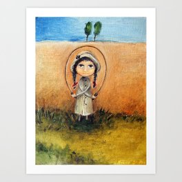 Skipping-rope Art Print