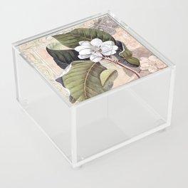 Vintage White Magnolia Acrylic Box
