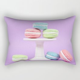 Macaron Sweet Treats Rectangular Pillow