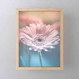 Pastel Gerbera Framed Mini Art Print