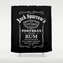 Captain Jack Sparrow Tortugan Spiced Rum Shower Curtain